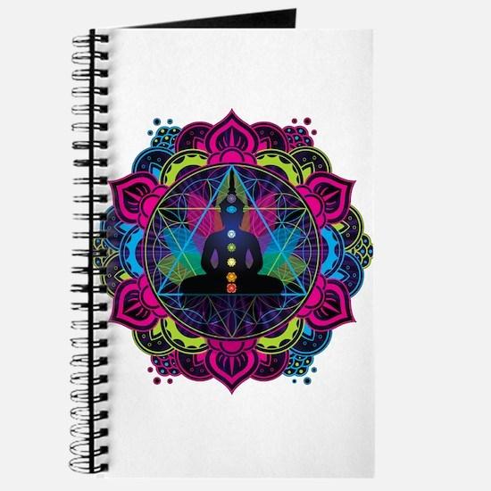 Buddha Meditating Sacred Geometry Mandala Journal