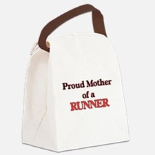 Proud Mother of a Runner Canvas Lunch Bag