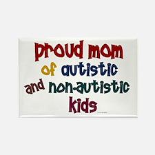 Proud Mom (Autistic & NonAutistic) Rectangle Magne