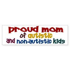 Proud Mom (Autistic & NonAutistic) Car Sticker