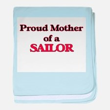 Proud Mother of a Sailor baby blanket