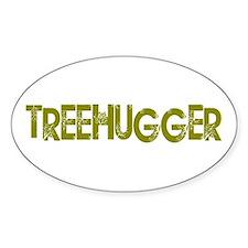Vintage Treehugger Oval Decal