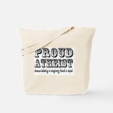 proud atheist god funny Tote Bag