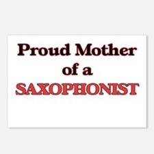 Proud Mother of a Saxopho Postcards (Package of 8)