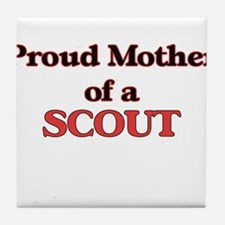 Proud Mother of a Scout Tile Coaster
