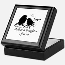 Mother Daughter Love Forever Quote Keepsake Box