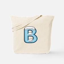 Icy Blue B Tote Bag