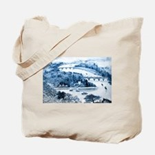 Chinese Porcelain Landscape Tote Bag