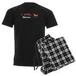 I Love Horses Men's Dark Pajamas