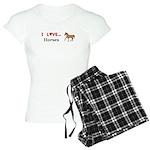 I Love Horses Women's Light Pajamas