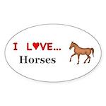 I Love Horses Sticker (Oval 50 pk)