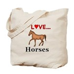 I Love Horses Tote Bag