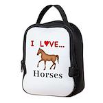 I Love Horses Neoprene Lunch Bag