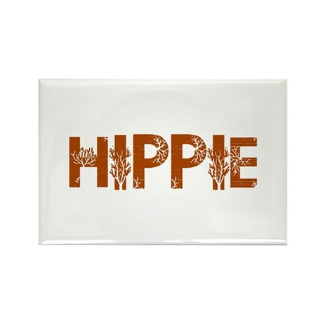 Vintage Hippie Rectangle Magnet (100 pack)