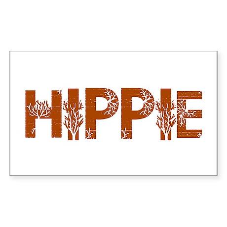 Vintage Hippie Rectangle Sticker