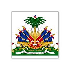 """Unique Haiti Square Sticker 3"""" x 3"""""""