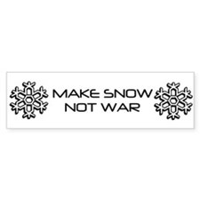 World Peace Bumper Sticker for Skiers