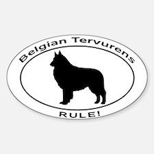 BELGIAN TERVURENS RULE Decal