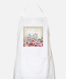 Abstract Floral Apron