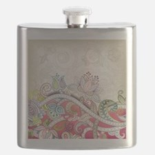 Abstract Floral Flask