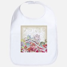 Abstract Floral Bib