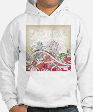 Abstract Floral Hoodie