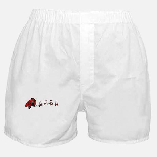 Santa's RV Sleigh Golf Cart Reindeer Boxer Shorts