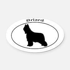 BRIARD Oval Car Magnet