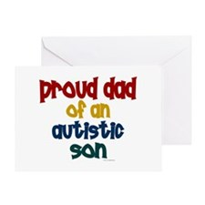 Proud Dad Of Autistic Son 2 Greeting Card