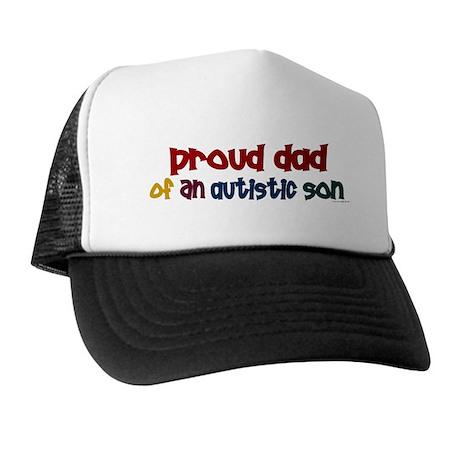 Proud Dad Of Autistic Son 2 Trucker Hat