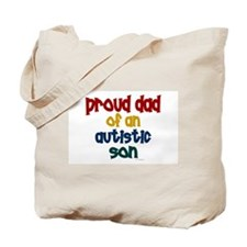 Proud Dad Of Autistic Son 2 Tote Bag