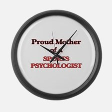 Proud Mother of a Sports Psycholo Large Wall Clock