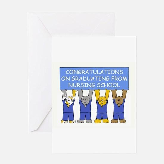 Nursing school graduate congratulat Greeting Cards