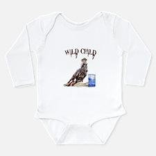 Funny Animals horse Long Sleeve Infant Bodysuit