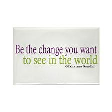 Gandhi Quote Rectangle Magnet (10 pack)