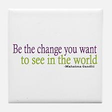 Gandhi Quote Tile Coaster