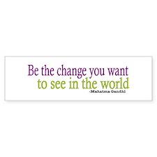 Gandhi Quote Bumper Bumper Sticker