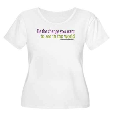 Gandhi Quote Women's Plus Size Scoop Neck T-Shirt