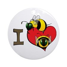 I heart bees Ornament (Round)
