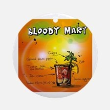 Cute Bloody mary Round Ornament