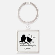 Mother Daughter Love Forever Quote Cute Keychains