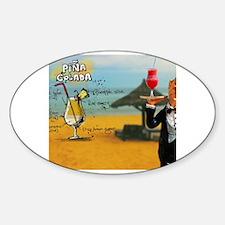 Black butler Sticker (Oval)