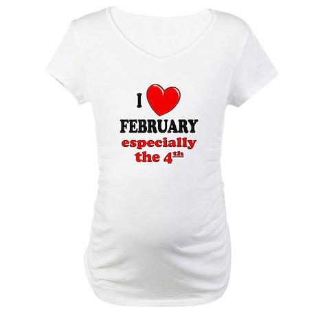 February 4th Maternity T-Shirt