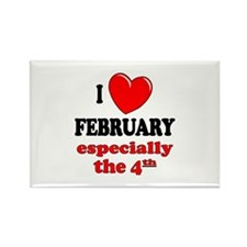 February 4th Rectangle Magnet