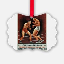 Vintage poster - Boxing Ornament