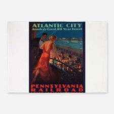 Vintage poster - Atlantic City 5'x7'Area Rug