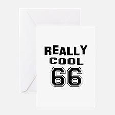 Really Cool 66 Birthday Greeting Card