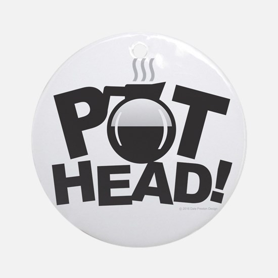 Pot Head Round Ornament