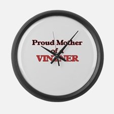 Proud Mother of a Vintner Large Wall Clock