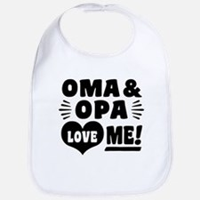 Oma and Opa Love Me Bib